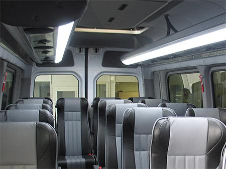 Vista interior del microbús