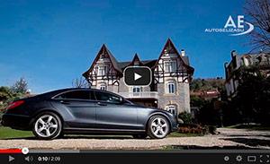 Acelerador de aro bajo volante y freno de leva en Mercedes CLS de Autos Elizasu