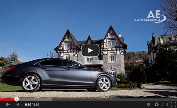Mercedes CLS adaptado con Acelerador de Aro bajo volante y freno de leva en Autos Elizasu