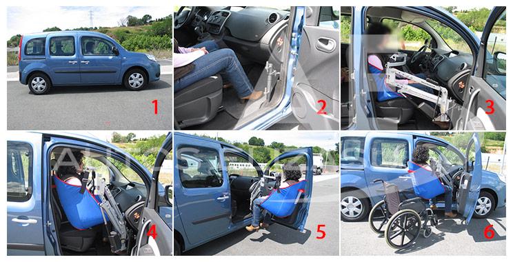 Renault Kangoo adaptado con grúa de personas por Autos Elizasu